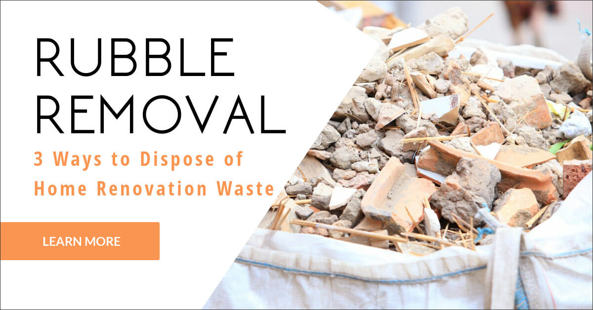 Rubble Removal in Essex: 3 Ways to Dispose of Home Renovation Waste